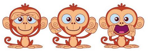 Cinque Scimmiette Saltavano Sul Letto.Idea Mammale 5 Scimmiette Idea Mamma