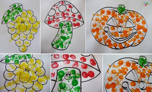 Idea mammala gomma che lascia il timbro idea mamma for Fungo da colorare per bambini