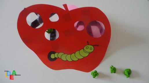 Idea mammaun divertente bruco mela da fare in casa idea for Immagini da colorare bruco