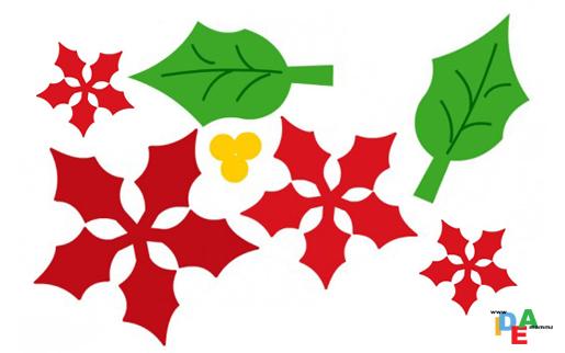 Stella Di Natale Da Colorare.Foglie Stella Di Natale Da Stampare Disegni Di Natale 2019