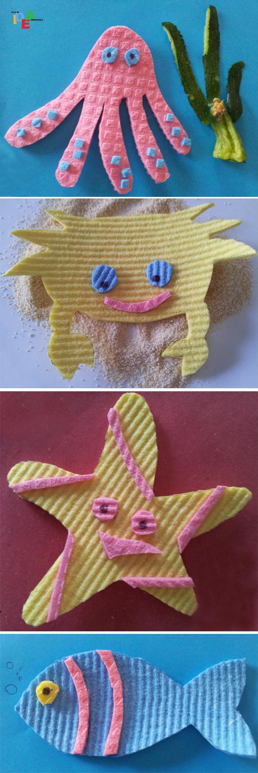 Idea mammaspugne che si animano in gommosi animali marini - Si possono portare passeggeri con il foglio rosa ...