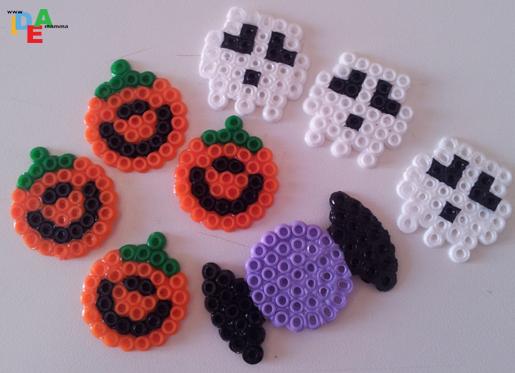 Zucca Di Halloween Pyssla.Idea Mammaidee Pysslose Per La Festa Di Halloween Idea Mamma